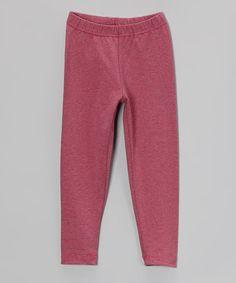 Look at this #zulilyfind! Pink & Gray Pinstripe Leggings - Toddler & Girls #zulilyfinds