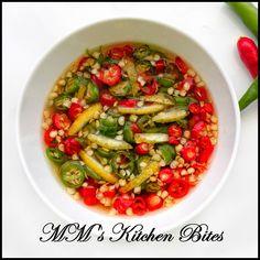 Thai Nam Pla Prik recipe, Prik Nam Pla recipe, Thai chili table sauce recipe, Essential Thai recipe, Thai condiment  Fish Sauce with Chilies recipe
