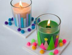 de-la-cire-coloree-dans-des-verres-tres-joliment-decorees-idee-comment-fabriquer-une-bougie-excellente