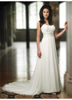LACE BRIDESMAID PARTY BALL EVENING GOWN IVORY CHIFFON STRAPLESS NECKLINE SHEATH WEDDING DRESS