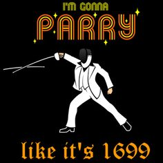 Parry 1699 fencing t-shirt tee