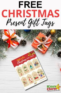 Done with your Christmas shopping? Grab these free Christmas present gift tags and use them to make your presents fancier. Check it!