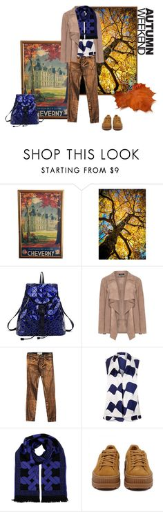 """""""Fall Style"""" by belldraw ❤ liked on Polyvore featuring H&M, Current/Elliott, Victoria Beckham, Versace and Puma"""