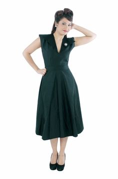 Sweet 50s style swing #dress by #queenofheartz on sale now for $100