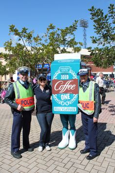 Royal Adelaide Show 2012 • the boys in blue the South Australian Police at the Royal Show with Farmers Union Iced Coffee