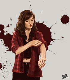 The red flannel that is actually Laura's that Carmilla stole. From Laura. To wear around so constantly that it has become immediately associated with her.