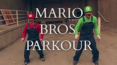 Super Mario Brothers Parkour, Mario & Luigi Perform Free Running Stunts in Real Life