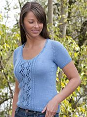 Ravelry: Venezia Worsted Top-Down Lace T-Shirt pattern by Vera Sanon