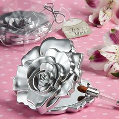 Realistic+Rose+Design+Mirror+Compacts