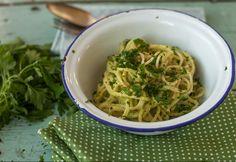 Avokádószószos spagetti
