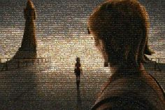 This photo was created from all 121 episodes and films in the Star Wars universe. If that's not cool, what is?