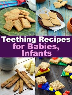 Teething Recipes for Babies, Infants, Tarladalal.com Toddler Recipes, Toddler Food, Toddler Meals, Kids Meals, Teething Cookies, Teething Biscuits, Baby Weaning, Led Weaning, Indian Biscuit Recipe
