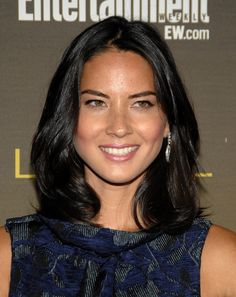 Olivia Munn // curly long bob