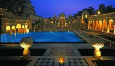 The Oberoi Amarvilas  Agra, India    Don't miss a swim in the romantic outdoor pool, framed by Mughal era–inspired gardens