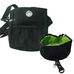 Jasper Swag Bag Mini Dog Treat Bag with Gulp & Go Travel Bowl