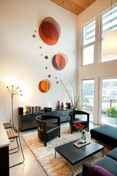kuhles wohnzimmer design hohe decken seite images und cdcecddfbcbec wall decor