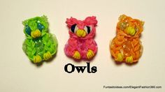 Rainbow Loom Owl Charm - How to - Animal Series tutorial by Elegant Fashion 360.