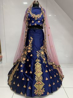 This beautiful Blue lehenga choli is made from high quality raw silk. Make your Diwali a special one by wearing this beautiful lehenga choli. Get your desired Diwali look.  It can be stitched in all sizes small medium large and extra large. Minimum 28 inches to maximum 44 inches chest size. Blue Lehenga, Silk Lehenga, Diwali, High Waisted Skirt, Medium, Skirts, How To Wear, Beautiful, Design