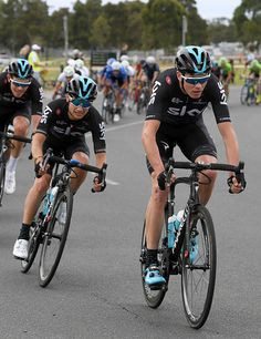 Chris Froome of Team Sky takes part in Race Melbourne on the first day of the Cadel Evan Great Ocean Road...
