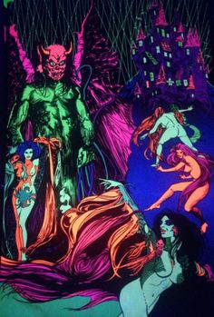 Vintage Dealer or Reseller Fantasy Art Posters Horror Comics, Horror Art, Fantasy Kunst, Fantasy Art, Gothic Crown, Magic Illusions, Black Castle, Easy Canvas Art, Black Light Posters