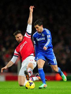 Olivier Giroud vs Eden Hazard