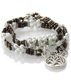 Floating Star Friendship Bracelet Set Bronze White Pearls - KTC-340 - Kalitheo Creations