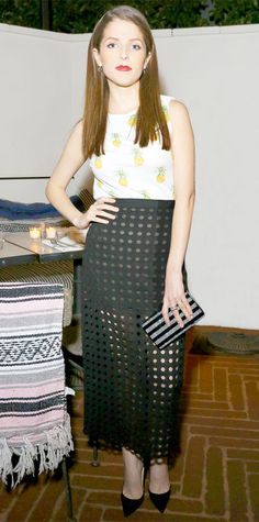 January 25, 2015 - Anna Kendrick in Tory Burch #InStyle