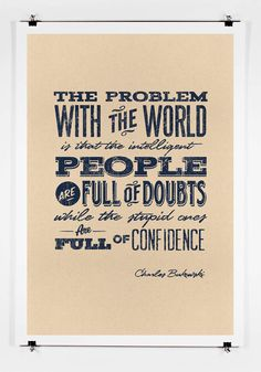 The Problem With The World..