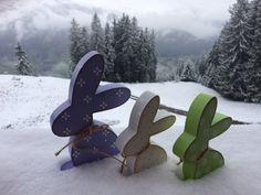 Hasen am Berg - Ostern im Schnee :-)