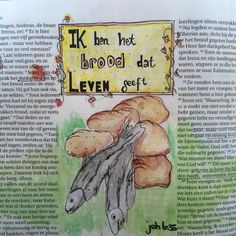 Biblejournaling Bijbeljournaling Craftbijbel Johannes6 Ik ben het brood dat leven geeft
