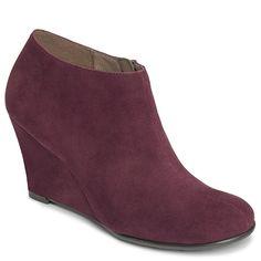 Plum Pie Wedge Ankle Boot | Women's Aero Collections Heel Rest | Aerosoles