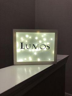Harry Potter inspired Lumos light up shadow box decoration /