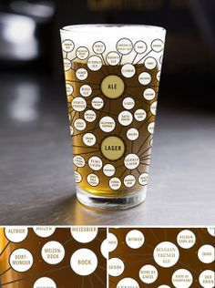 Pop Chart Lab --> Design + Data = Delight --> The Very Many Varieties of Beer Pint Glass