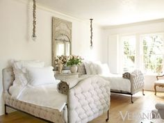 such a pretty guest room