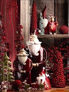 Santa and Christmas ornaments