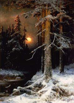 Paisaje de la selva bajo luna llena, Julio Sergio von Klever