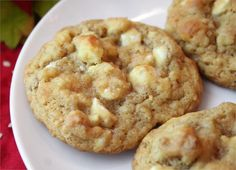 apple chip (butterscotch) cookies - making these right now and they look delish. I added a dash of a cinnamon.