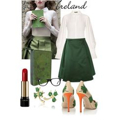 Ireland by theirishjewelrycompany on Polyvore featuring Alexander McQueen, Acne Studios, Camilla Elphick, Disaster Designs, Muse and Lancôme
