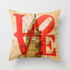 Throw Pillow Love Philly City Hall Home Decor by BrandiFitzgerald, $34.99