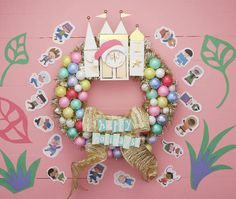 a small world Holiday Wreath for Your Disney Family Disney Christmas Decorations, Mickey Christmas, 25 Days Of Christmas, Family Christmas, Christmas Ideas, Disney Diy, Disney Crafts, Festive Crafts, Diy And Crafts