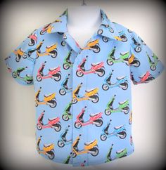 Spring in Venice button up shirt for 2 year old boy Short Sleeve Button Up, Button Up Shirts, 2 Year Olds, Old Boys, Venice, Light Blue, This Or That Questions, Blouse, Spring