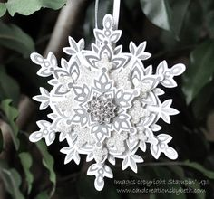 Stampin' Up Christmas by Card Creations by Beth: Festive Flurry Ornament