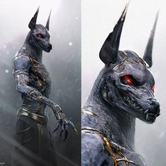 #anubis #creaturedesign for #godsofegypt. I did these designs through Legacey Fx. Great company and phenomenal team of artists. I'm pretty sure this was the design used in the film. Haven't seen the movie yet :-) #egypt #mythology #dog #god #underworld #creature #character #conceptart #monster #gold # by devilzsmile.com #devilzsmile