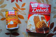 2 ingredients!! pumpkin spice cookies