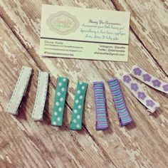 Lined clippies are perfect for holding back baby bangs.