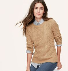 Cable Sweater   Loft Size Small