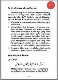 cara-solat-taubat-nasuha-ringkas-1 Islamic Love Quotes, Islamic Inspirational Quotes, Muslim Quotes, Motivational Quotes, Hijrah Islam, Beautiful Prayers, Islamic Prayer, Learn Islam