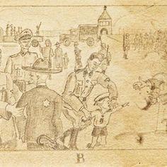 El horror vivido en Auschwitz a través de los dibujos de un preso anónimo