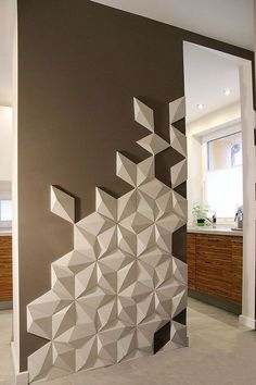 How to Improve Your Kitchen Backsplash with DIY Backsplash Ideas Kitchen Backsplash Ideas Backsplash DIY ideas improve kitchen 3d Wall Panels, Wall Panel Design, Wall Finishes, Wall Cladding, Diy Décoration, Deco Design, Design Design, Design Ideas, Home And Deco