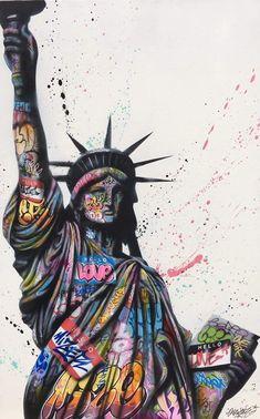 Love Graffiti, Street Art Graffiti, Dope Art, Types Of Art, Amazing Art, Modern Art, Art Gallery, Animation, Wall Art